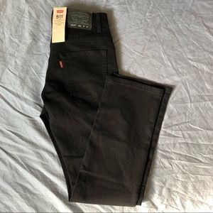 NWT Levi's 511 Youth Slim Black Jeans size 14